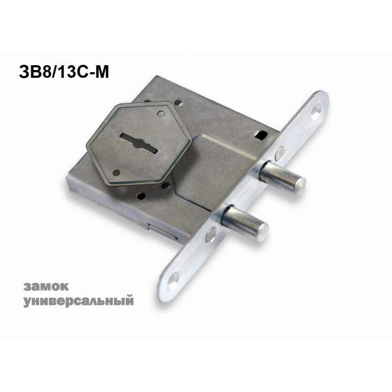 Замок врезной Sam (Сам) сувальдный ЗВ8/13С-М, 3 кл. /76610/