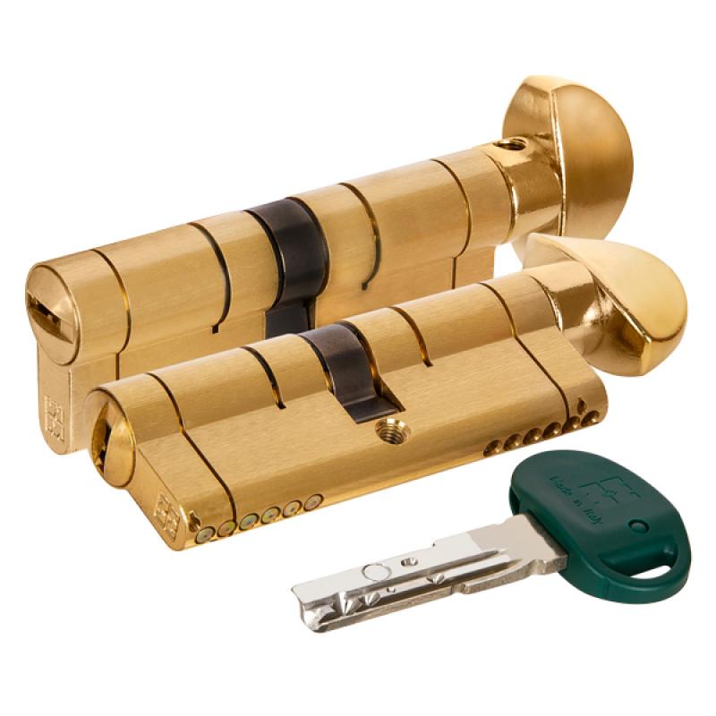 Цилиндровый механизм Mottura (Моттура) с вертушкой C31F464601RLC5 (92 мм/41+10+41), ЛАТУНЬ (PVD) (верт. 99.506)