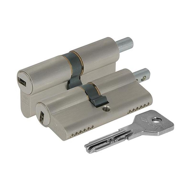 Цилиндровый механизм Cisa (Чиза) под вертушку  ASIX OE302-29.00 (90 мм/40+10+40), ЛАТУНЬ