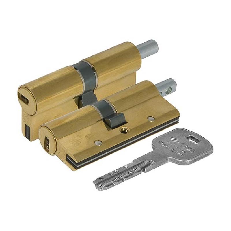 Цилиндровый механизм Cisa (Чиза) под вертушку  AP3 OH3S2-13.66 (70 мм/30+10+30), ЛАТУНЬ