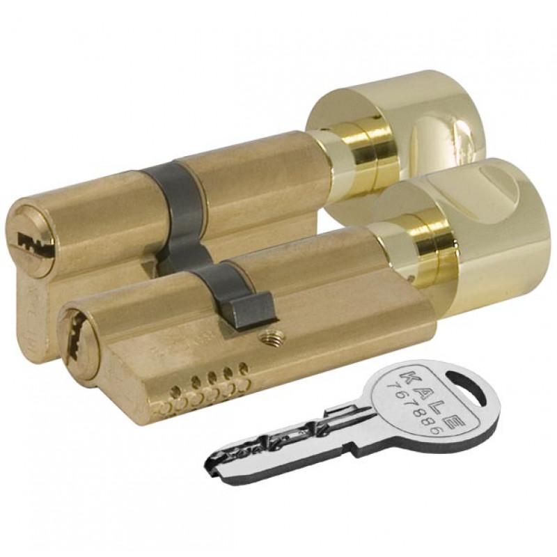 Цилиндровый механизм Kale kilit (Кале килит) с вертушкой 164 OBS SCE/68 (26+10+32) mm латунь 5 кл.