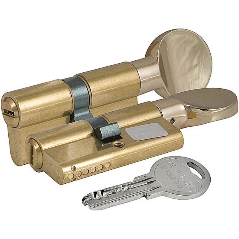 Цилиндровый механизм Kale kilit (Кале килит) с вертушкой 164 SM/90 (35+10+45) mm латунь 5 кл.