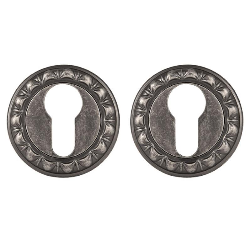 Накладка под Punto (Пунто) цилиндр ET MT OS-9 античное серебро