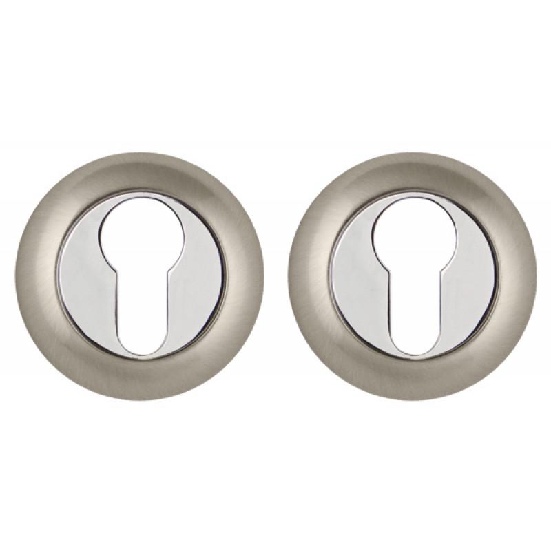 Накладка под Punto (Пунто) цилиндр ET TL SN/CP-3 матовый никель/хром