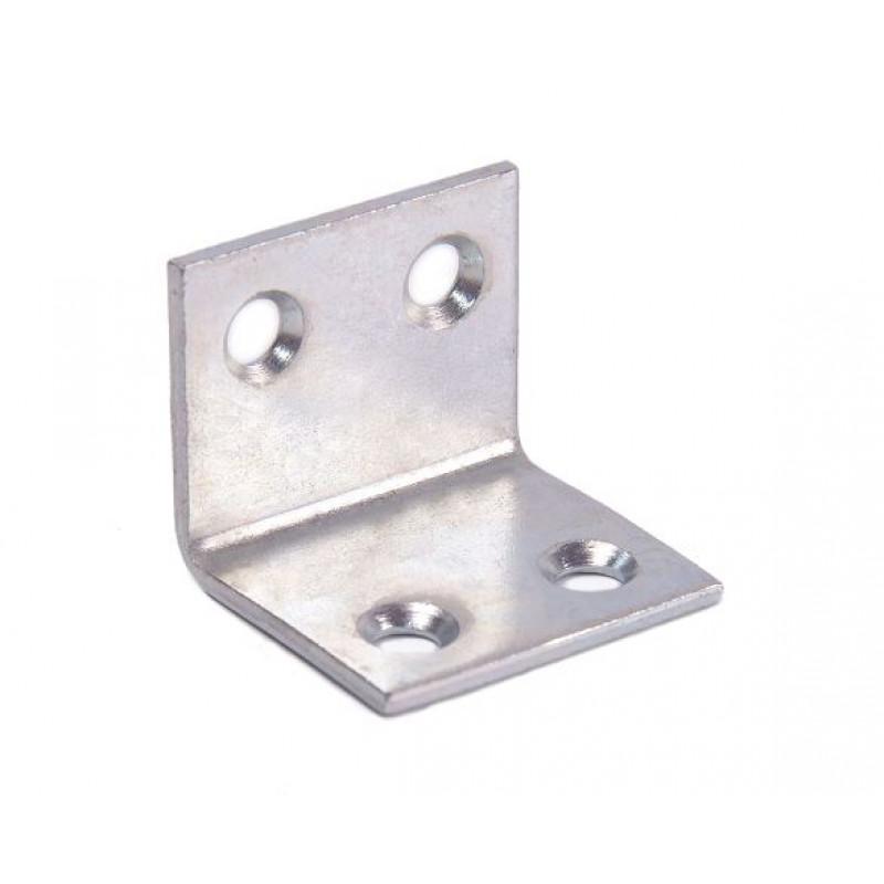Уголок мебельный 25 (25x25x30x2) цинк белый