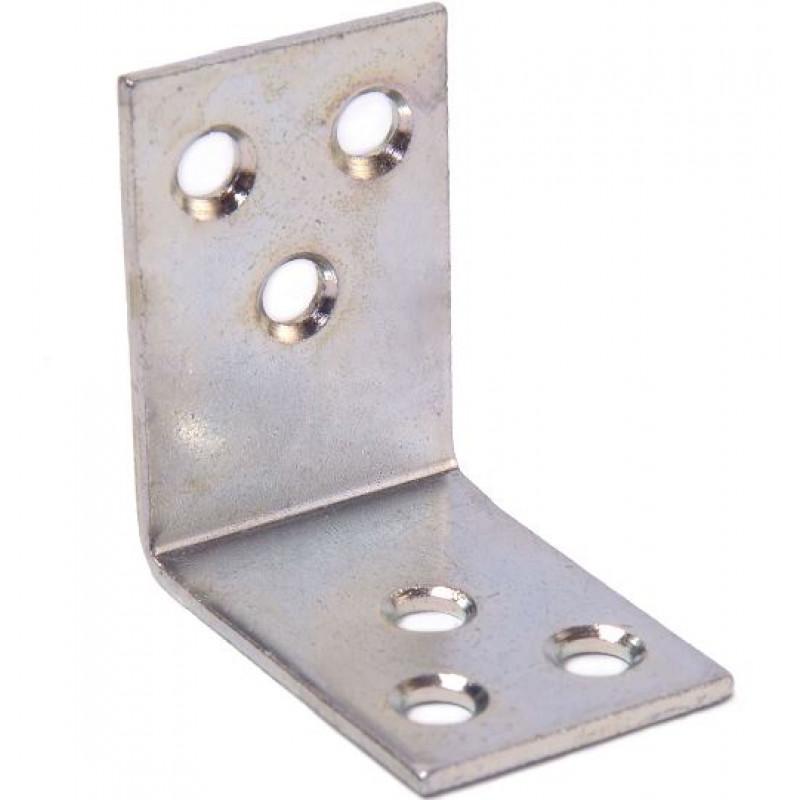 Уголок мебельный 40x02 (40х40х30х2) цинк белый