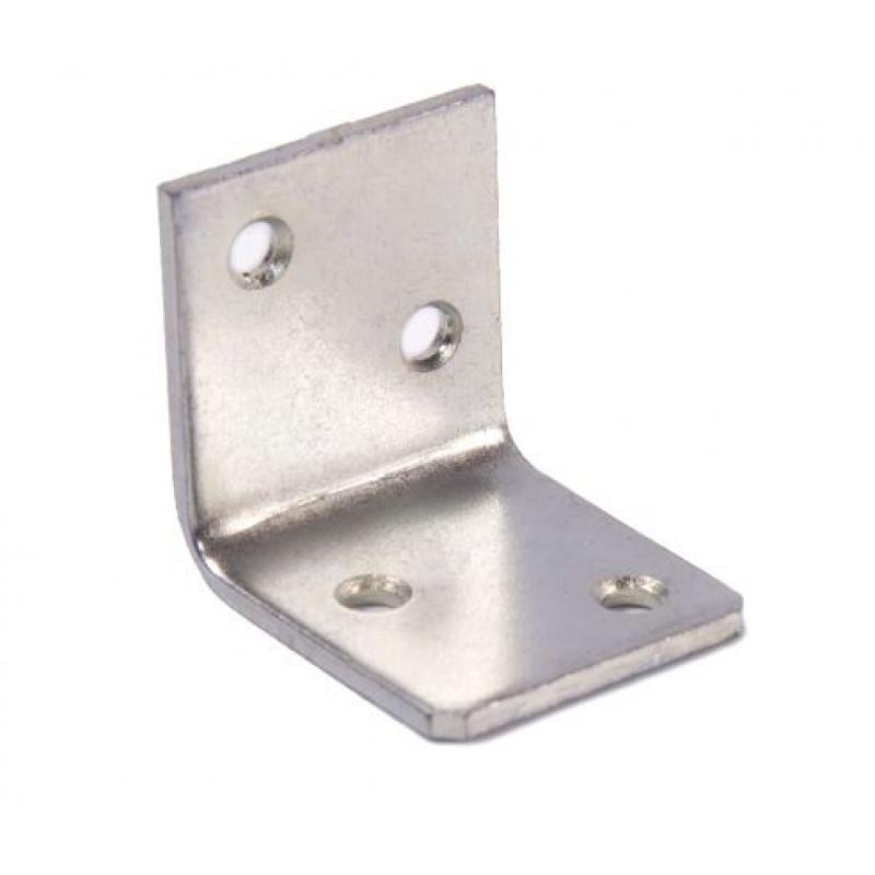 Уголок мебельный 28 (28x28x25x2) цинк белый