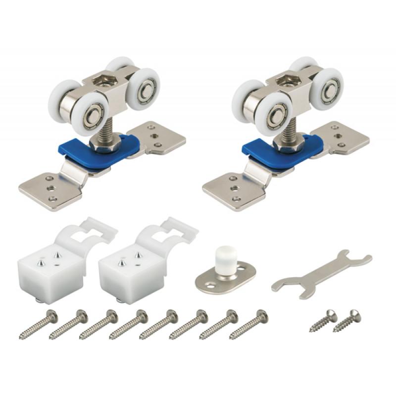 Комплект роликов Armadillo (Армадилло) для раздвижных дверей DIY Comfort 60/4 kit (877)