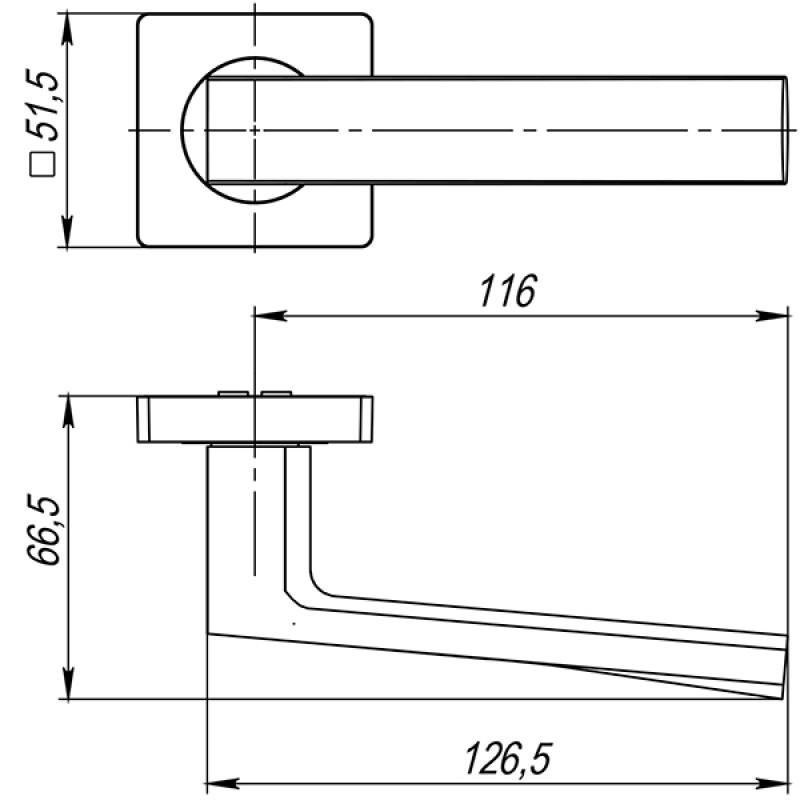 Ручка раздельная Ajax (Аякс) ERGO JK SN/CP-3 матовый никель/хром