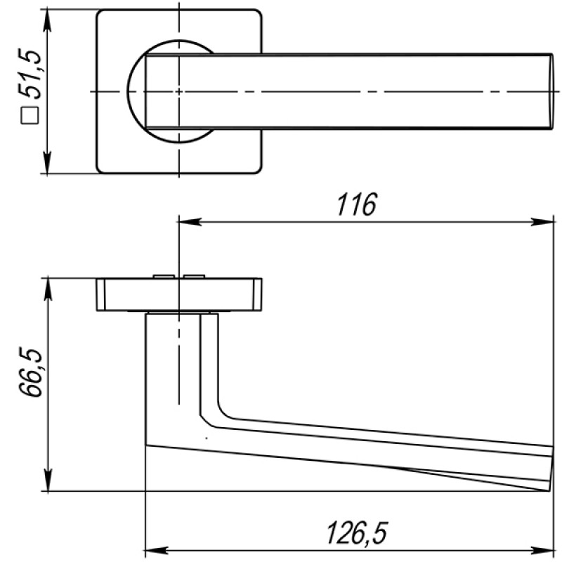 Ручка раздельная Ajax (Аякс) ERGO JK CP-8 хром