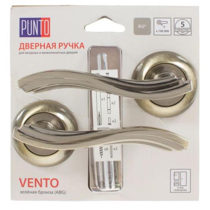 Ручка раздельная Punto (Пунто) VENTO ML/HD ABG-6 зеленая бронза