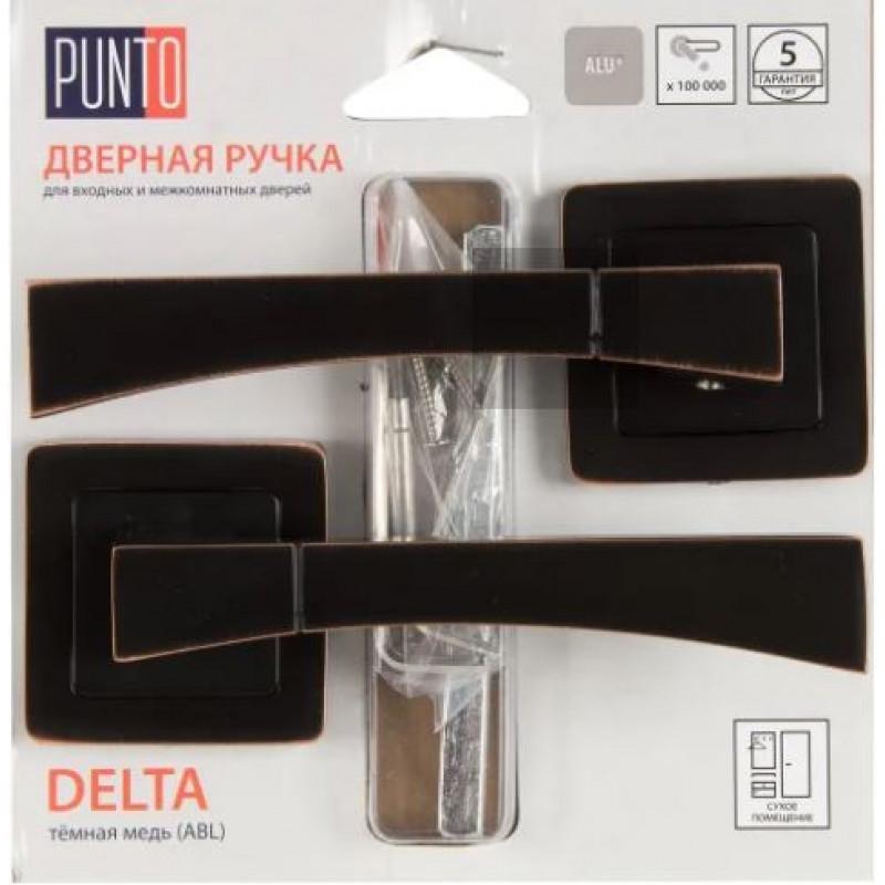 Ручка раздельная Punto (Пунто) DELTA QR/HD ABL-28 темная медь
